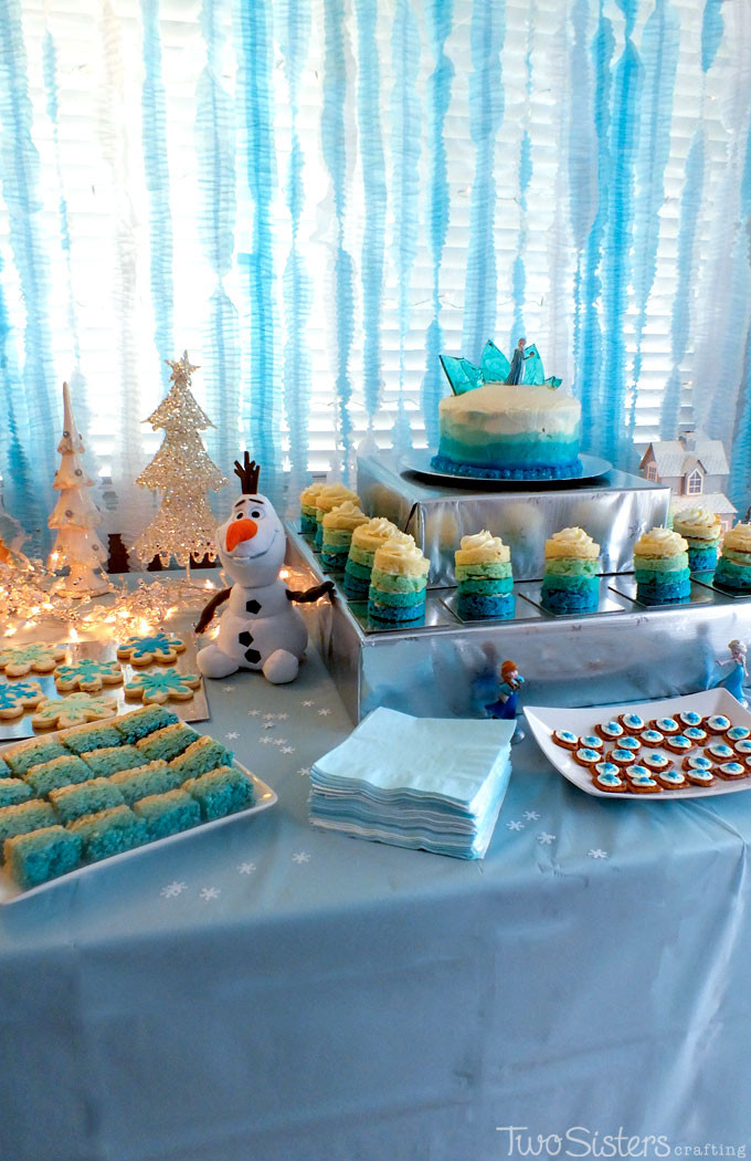 Frozen Dessert Party  Disney Frozen Dessert Table Two Sisters
