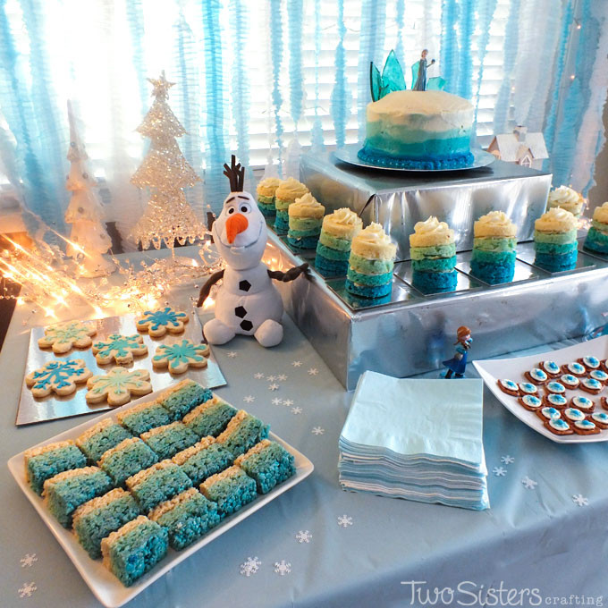 Frozen Dessert Party  25 Ideas for an Amazing Frozen Party Two Sisters