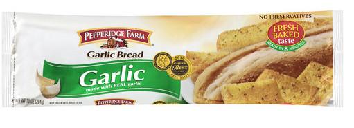 Frozen Garlic Bread  Pepperidge Farm Frozen Garlic Bread as Low as $0 99 at Kmart