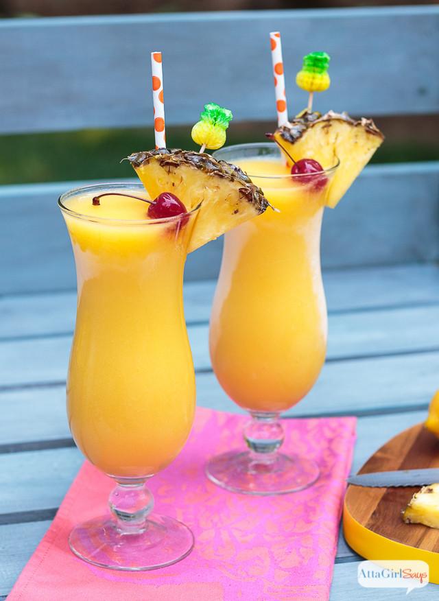 Frozen Rum Drinks  Tropical Frozen Lemonade with Pineapple Rum Atta Girl Says
