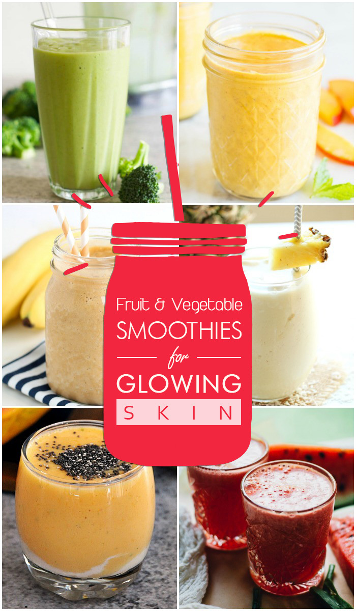 Fruit And Vegetable Smoothie Recipes  30 Fruit and Ve able Smoothies for Glowing Skin