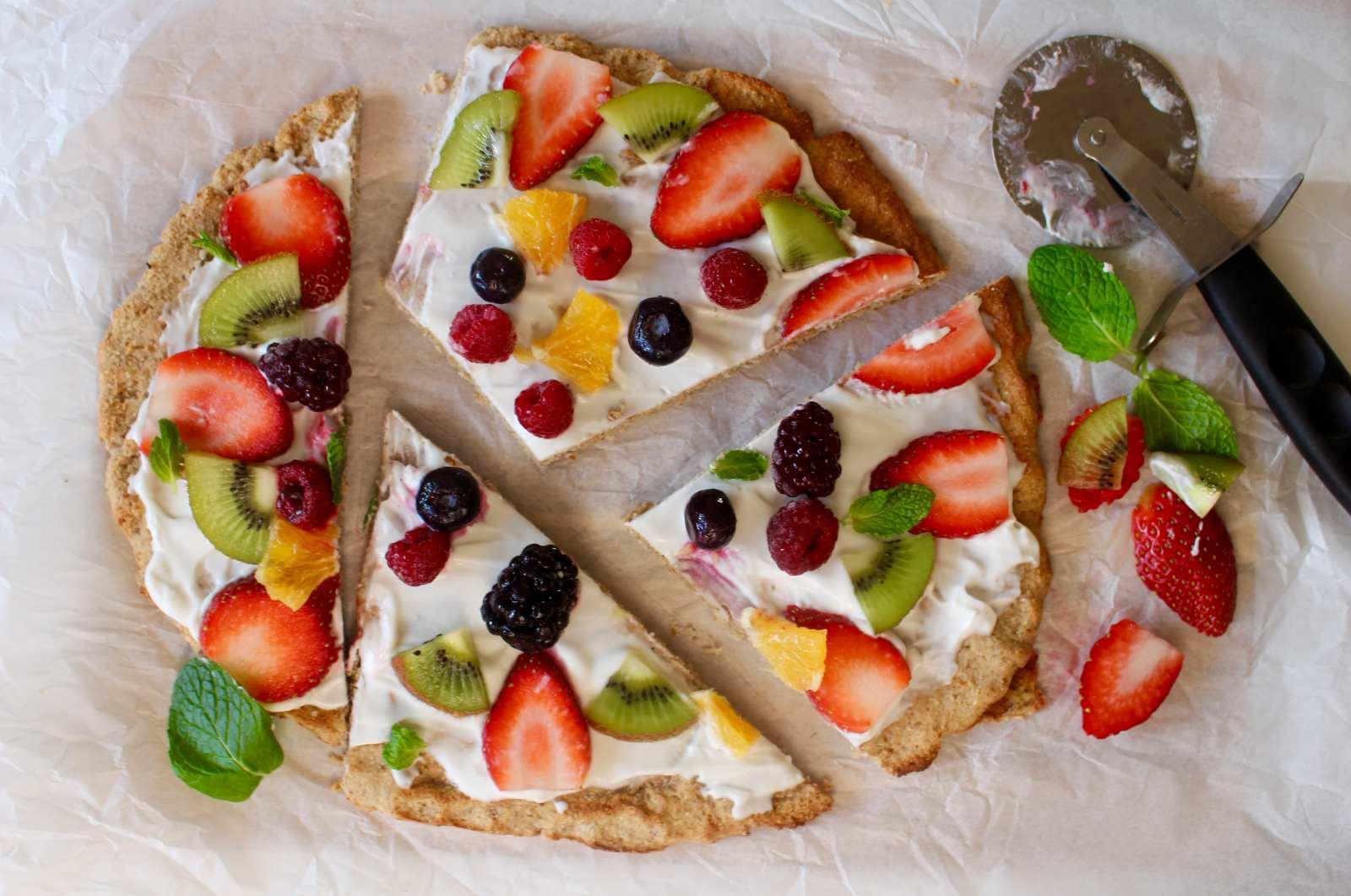 Fruit Breakfast Recipes  Healthy Fruit Pizza Recipe For Breakfast by Archana s Kitchen