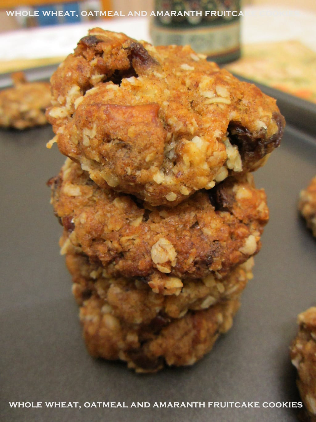 Fruit Cake Cookies  delicious whole wheat fruitcake cookies