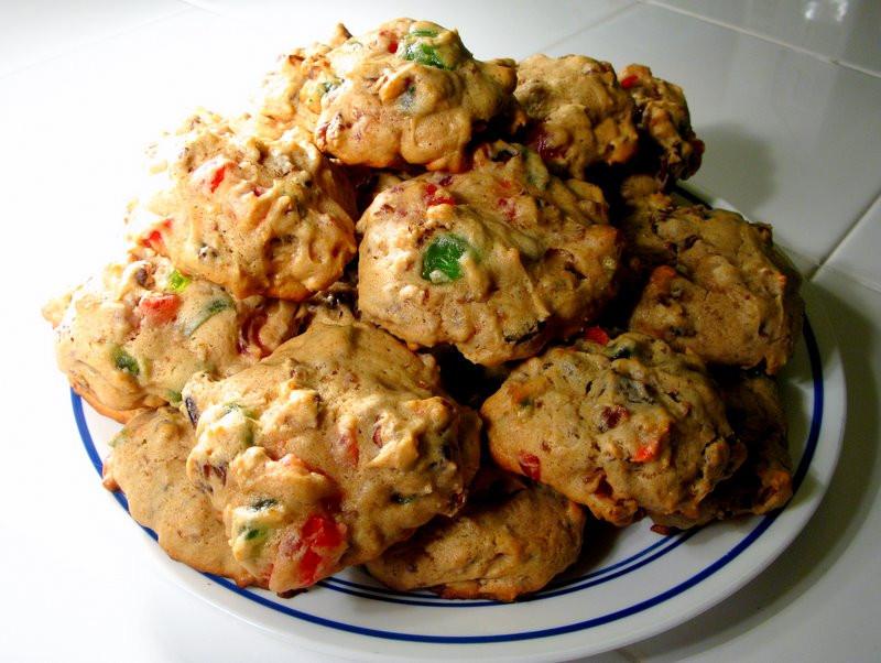 Fruit Cake Cookies  Bourbon Fruitcake Cookies