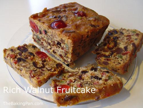 Fruit Cake Recipe  Rich Walnut Fruitcake Recipe