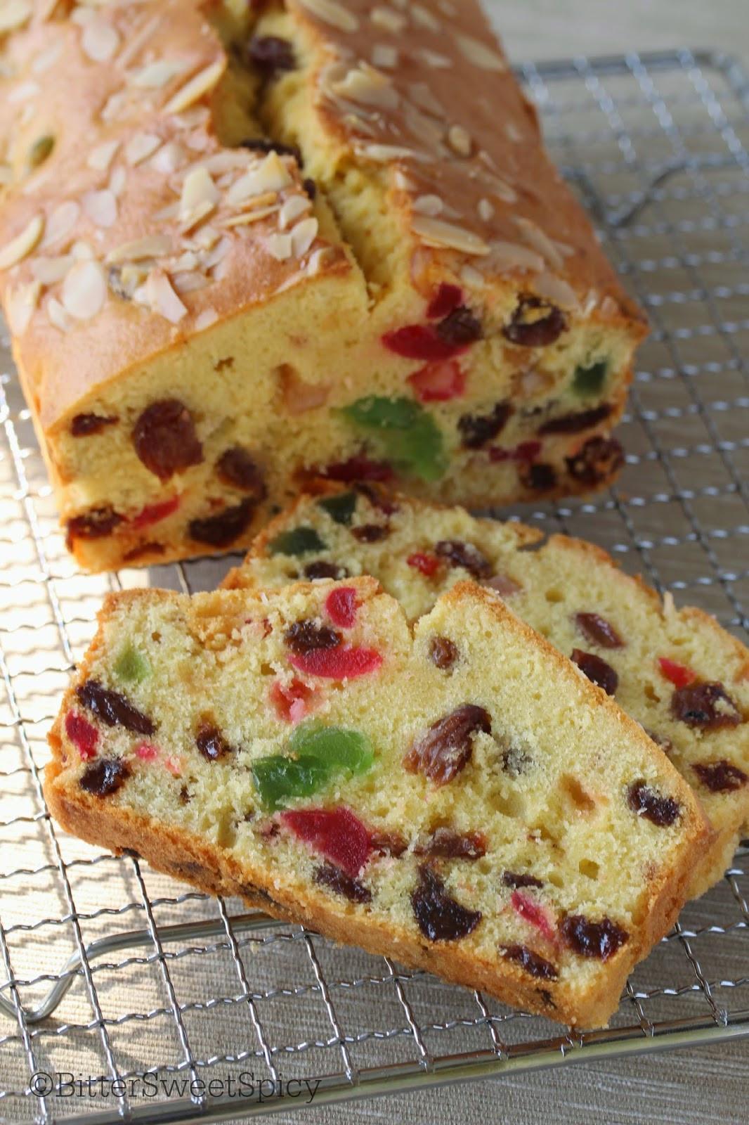 Fruit Cake Recipe  BitterSweetSpicy Light Fruit Cake