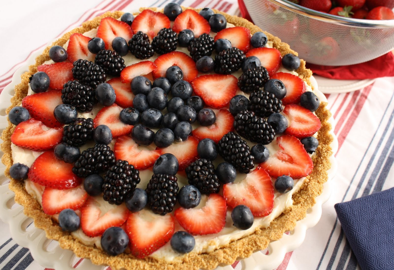 Fruit Pie Recipes  Patriotic Dessert Recipes Red White and Blue Berry Fruit Tart