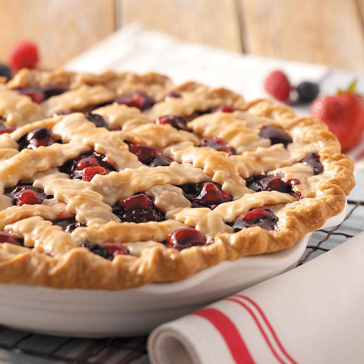 Fruit Pie Recipes  Mixed Berry Pie Recipe