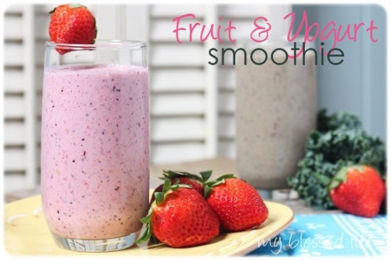 Fruit Smoothie Recipes With Yogurt  Smoothie Recipe Round Up – Nurture Mama