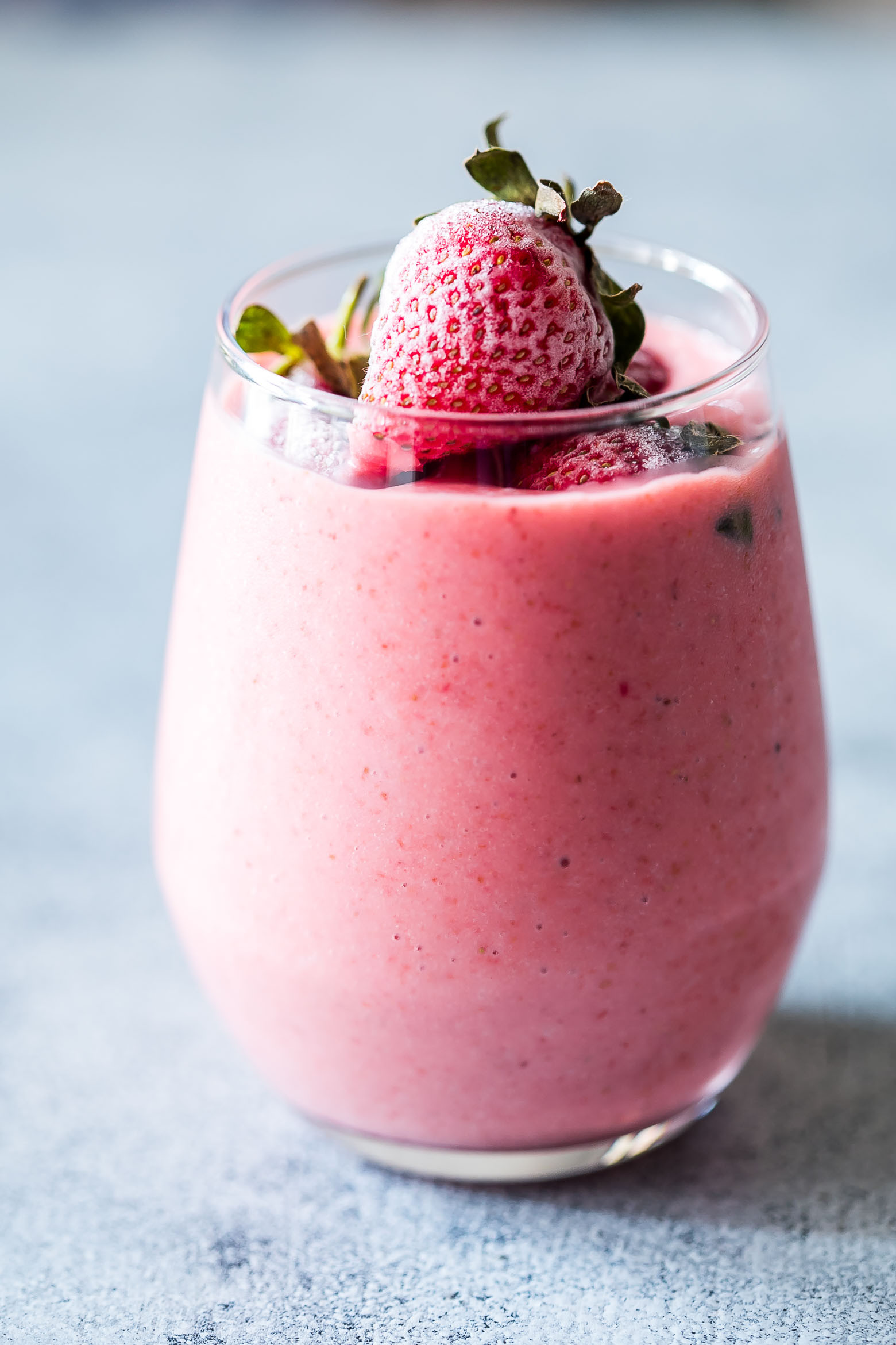 Fruit Smoothie Recipes With Yogurt  Frozen Strawberry Greek Yogurt Smoothie 10 minute Breakfast