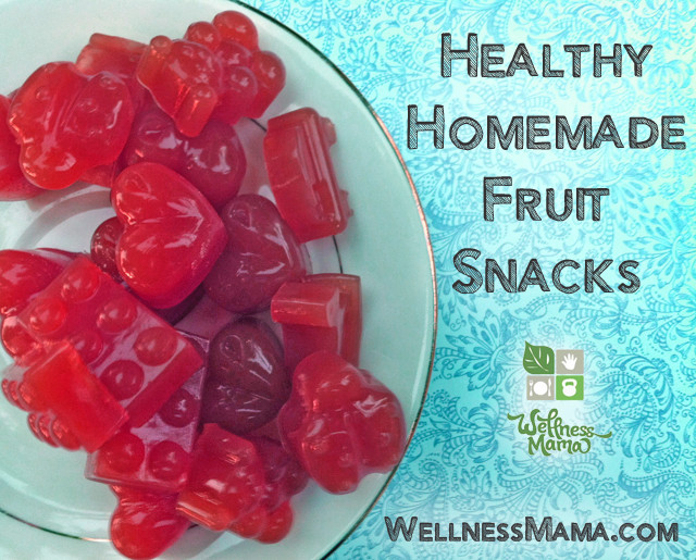 Fruits Snacks Recipes  Homemade Gummy Fruit Snacks