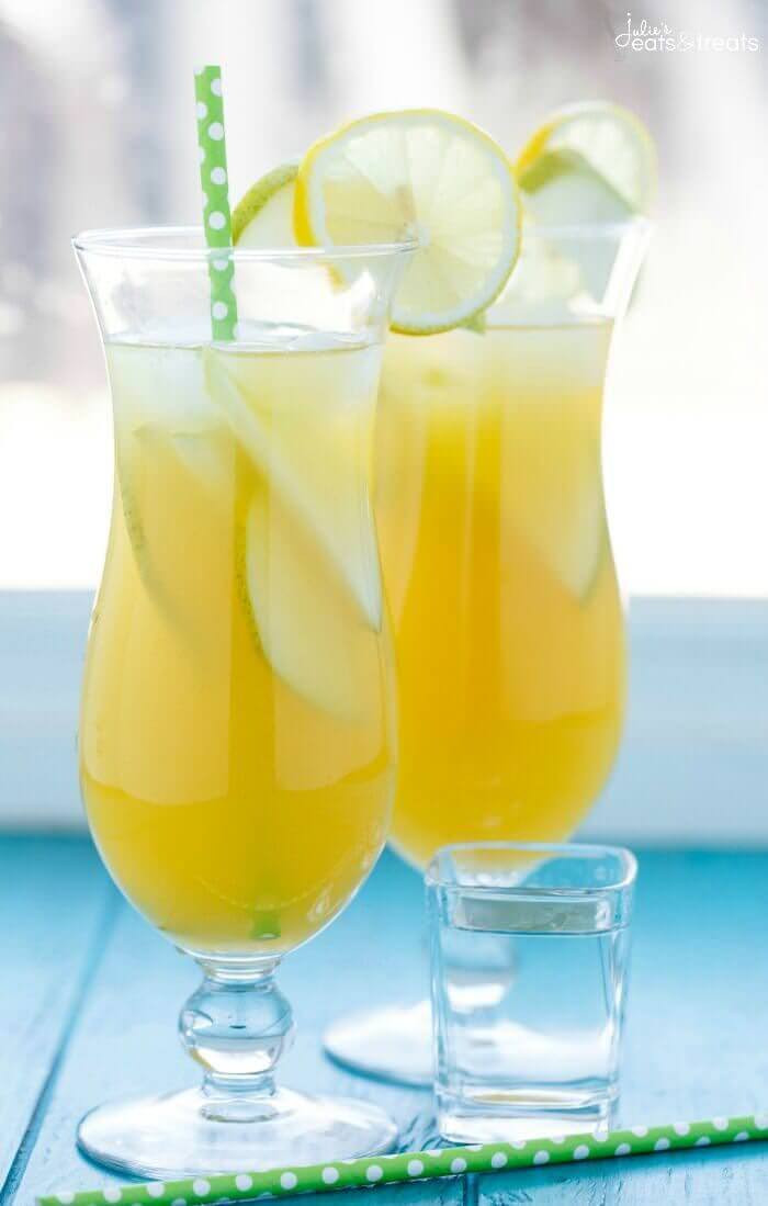 Fruity Drinks With Rum  Pineapple Fruit Cocktail Drink Recipe Julie s Eats & Treats