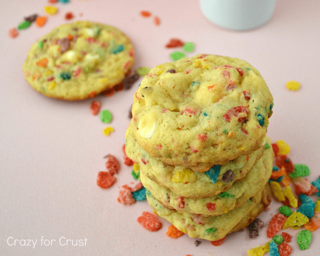 Fruity Pebbles Desserts  Fruity Pebble Pudding Cookies Crazy for Crust