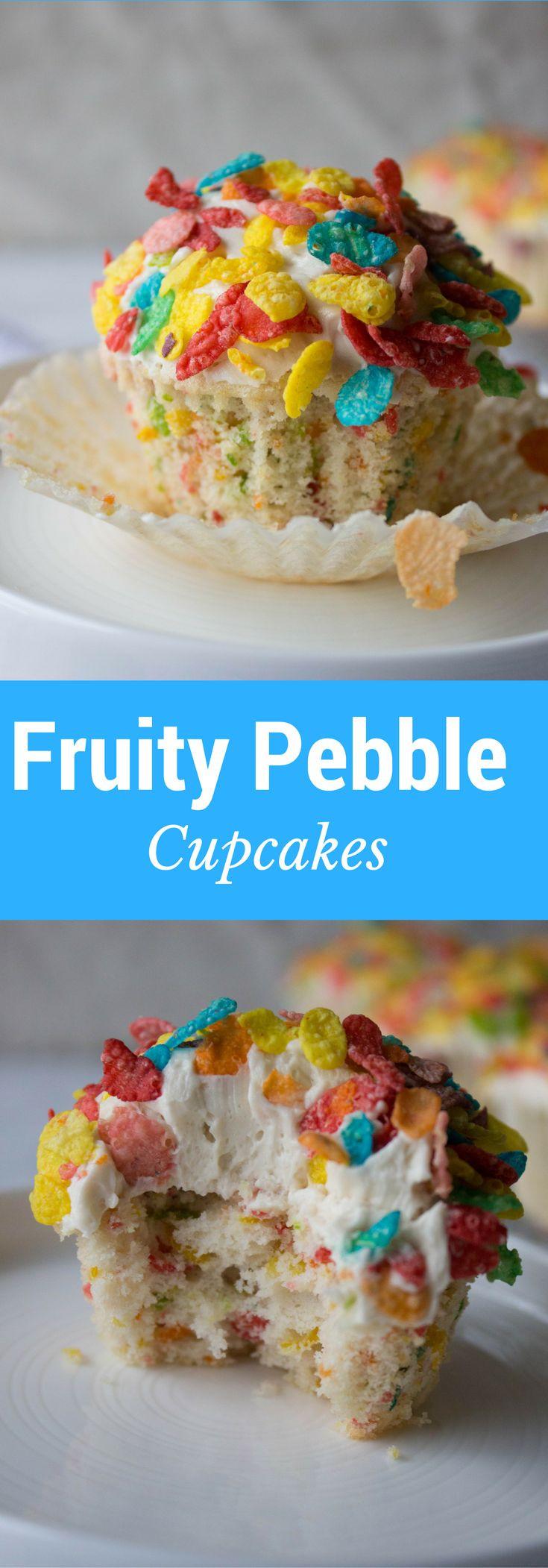 Fruity Pebbles Desserts  De 25 bedste idéer inden for Fruity pebble cupcakes på