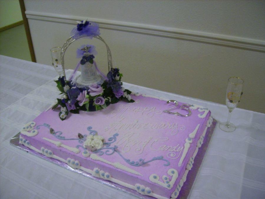 Full Sheet Cake  Full Sheet Cake For 25Th Wedding Anniversary With Fondant