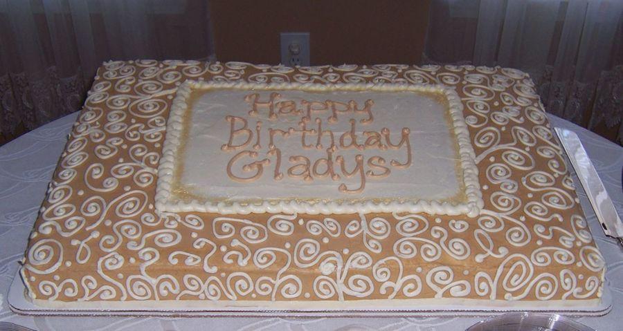 Full Sheet Cake  Full Sheet Cake For 70Th Birthday CakeCentral
