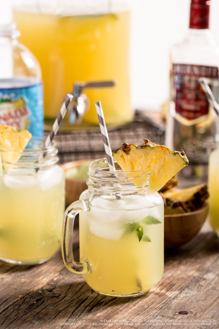 Fun Vodka Drinks  Try this Pineapple Limeade Vodka Punch bine 1 5 cups