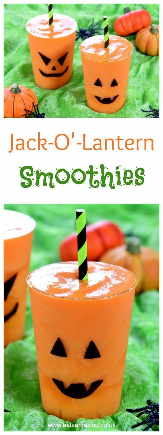 Funny Halloween Drinks  Halloween Fun Jack O Lantern Smoothies