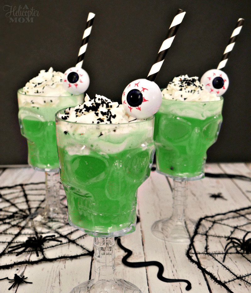 Funny Halloween Drinks  Easy Creepy Halloween Drinks A Helicopter Mom
