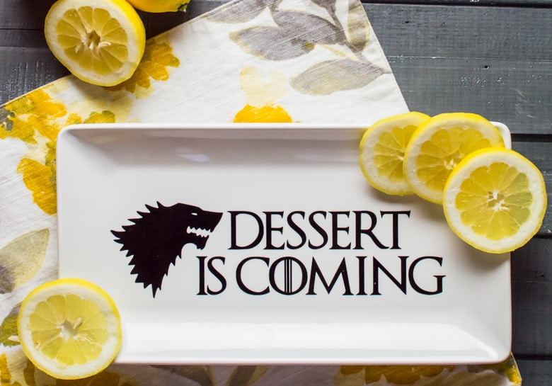 Game Of Thrones Desserts  Game of Thrones Inspired Dessert Plate Simply Made Fun