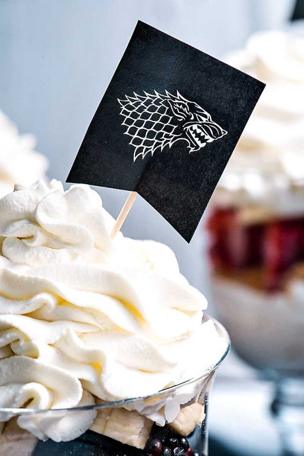 Game Of Thrones Desserts  Game of Thrones Party Parfaits Homemade Hooplah