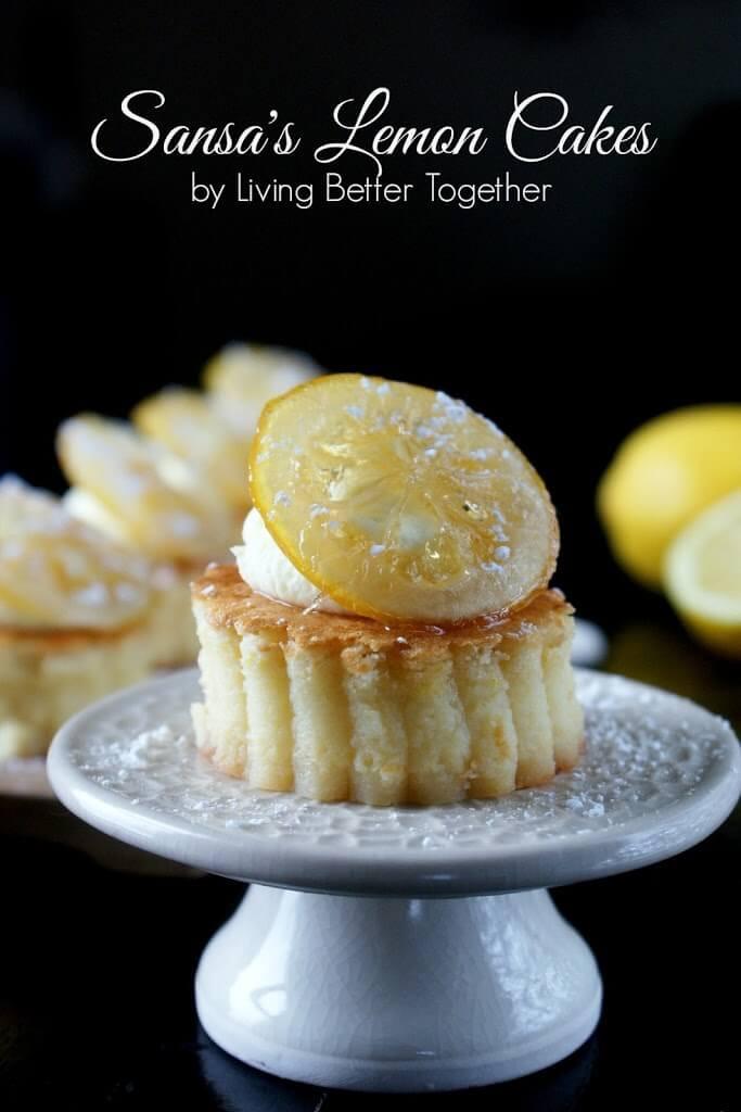 Game Of Thrones Desserts  Sansa s Lemon Cakes Sugar & Soul
