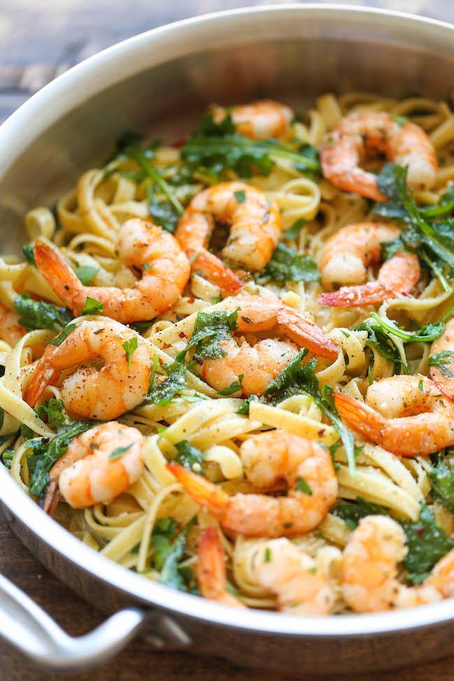 Garlic Butter Shrimp Pasta  10 Easy Shrimp Recipes