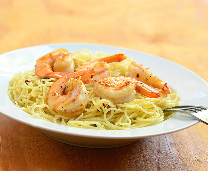 Garlic Butter Shrimp Pasta  Garlic Butter Shrimp Pasta ion Rings & Things