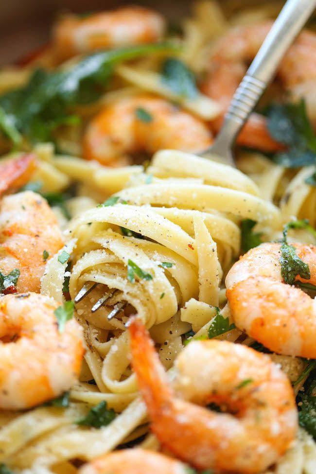 Garlic Butter Shrimp Pasta  Garlic Butter Shrimp Pasta Recipe