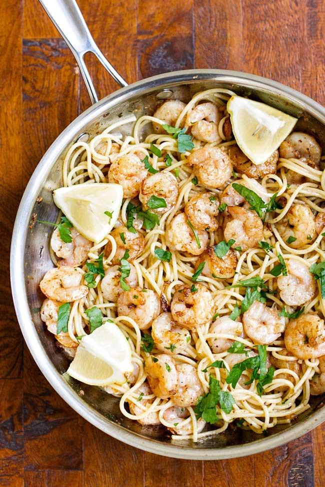 Garlic Butter Shrimp Pasta  Garlic Butter Shrimp Pasta Quick & Easy