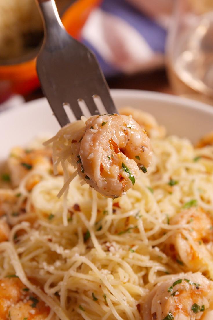 Garlic Butter Shrimp Pasta  80 Easy Shrimp Recipes How to Cook Shrimp—Delish