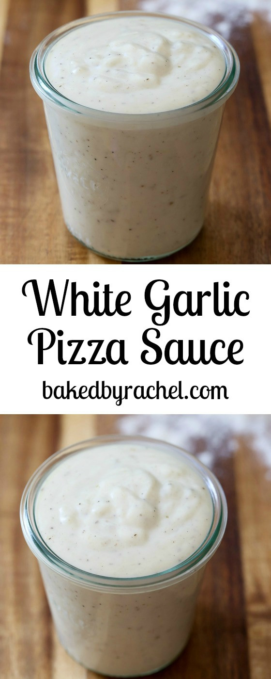 Garlic Sauce For Pizza  White Garlic Pizza Sauce