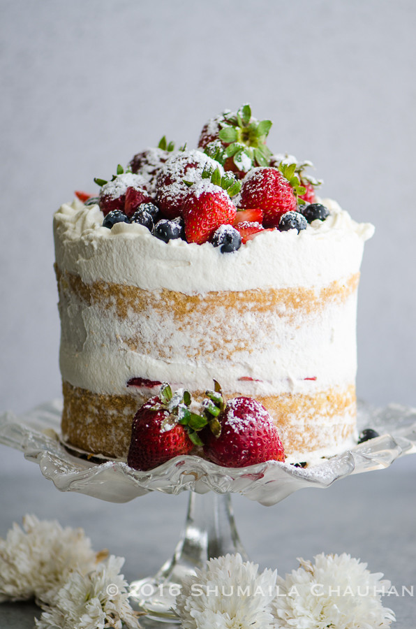 Genoise Sponge Cake  Classic Genoise with summer berries and whipped cream