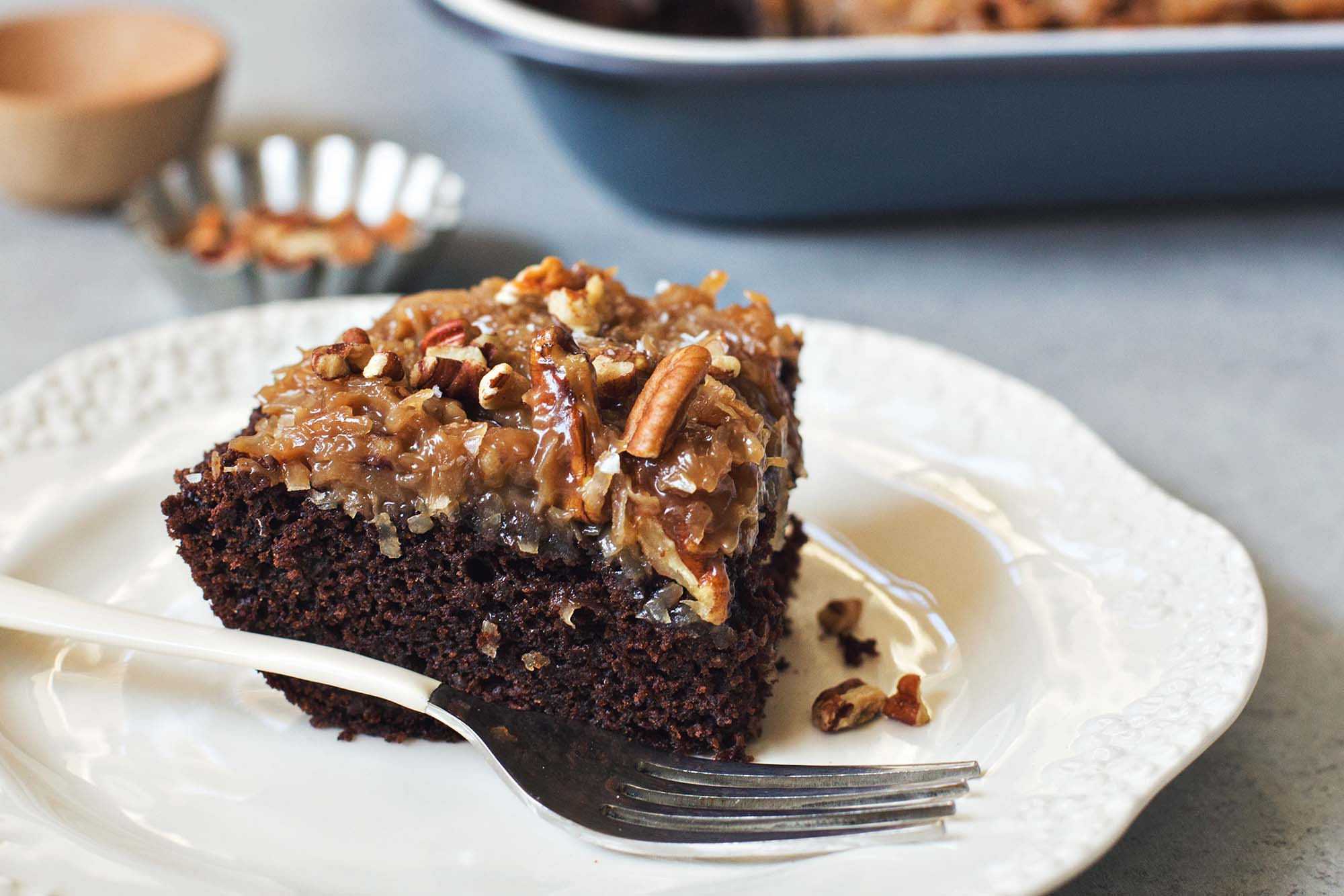 German Chocolate Cake Originates From Which Country?  German Chocolate Snack Cake With Coconut Pecan Frosting