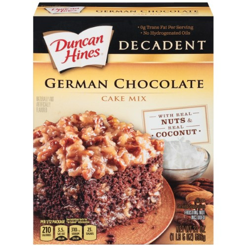 German Chocolate Cake Originates From Which Country?  Duncan Hines Decadent German Chocolate Cake Mix 21 Oz