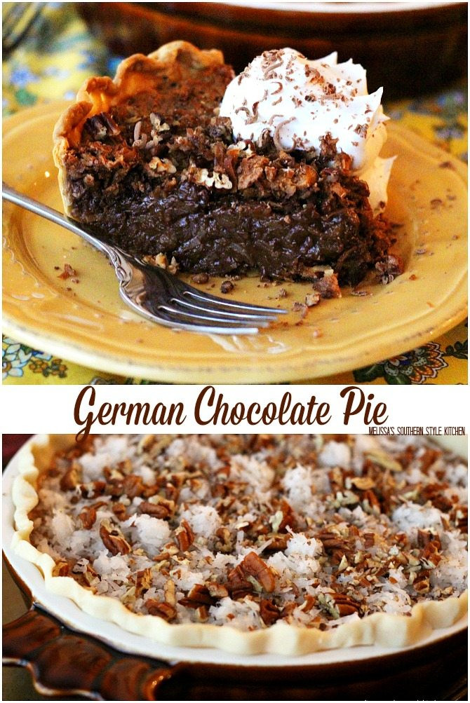 German Chocolate Pie  German Chocolate Pie melissassouthernstylekitchen