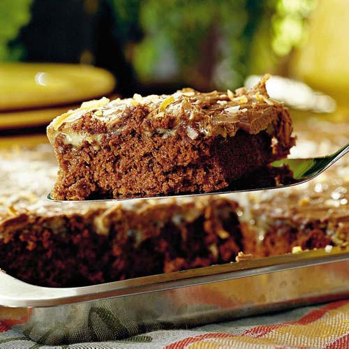 German Chocolate Sheet Cake  Cake Mix Cake Recipes Southern Living