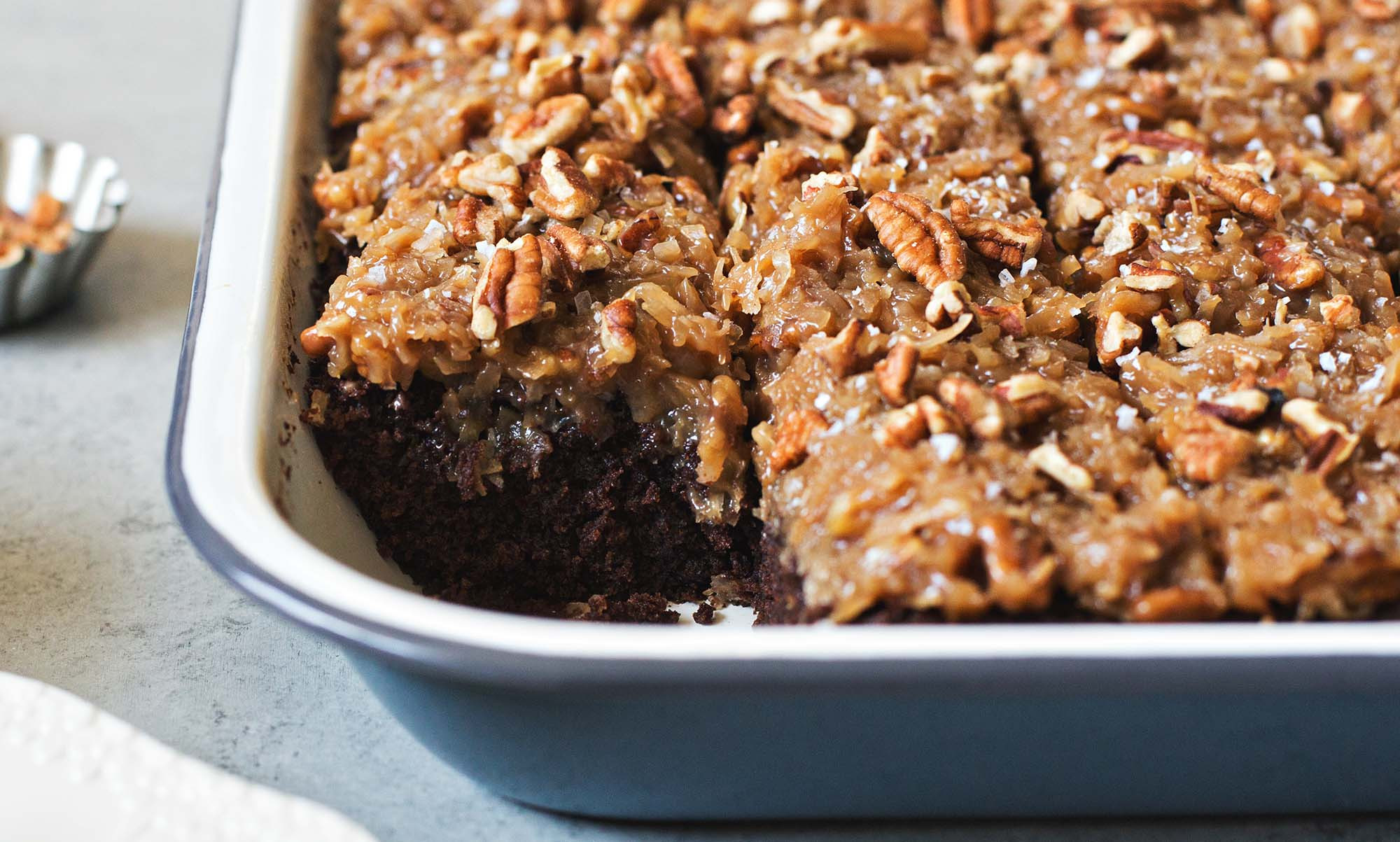 German Chocolate Sheet Cake  German Chocolate Sheet Cake With Coconut Pecan Frosting
