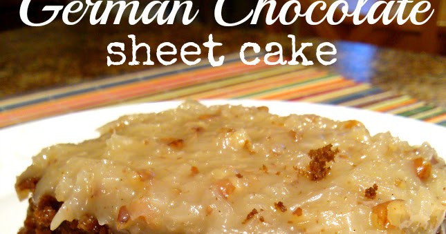 German Chocolate Sheet Cake  South Your Mouth German Chocolate Sheet Cake