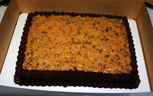 German Chocolate Sheet Cake  German Chocolate sheet cake with Pecan coconut frosting