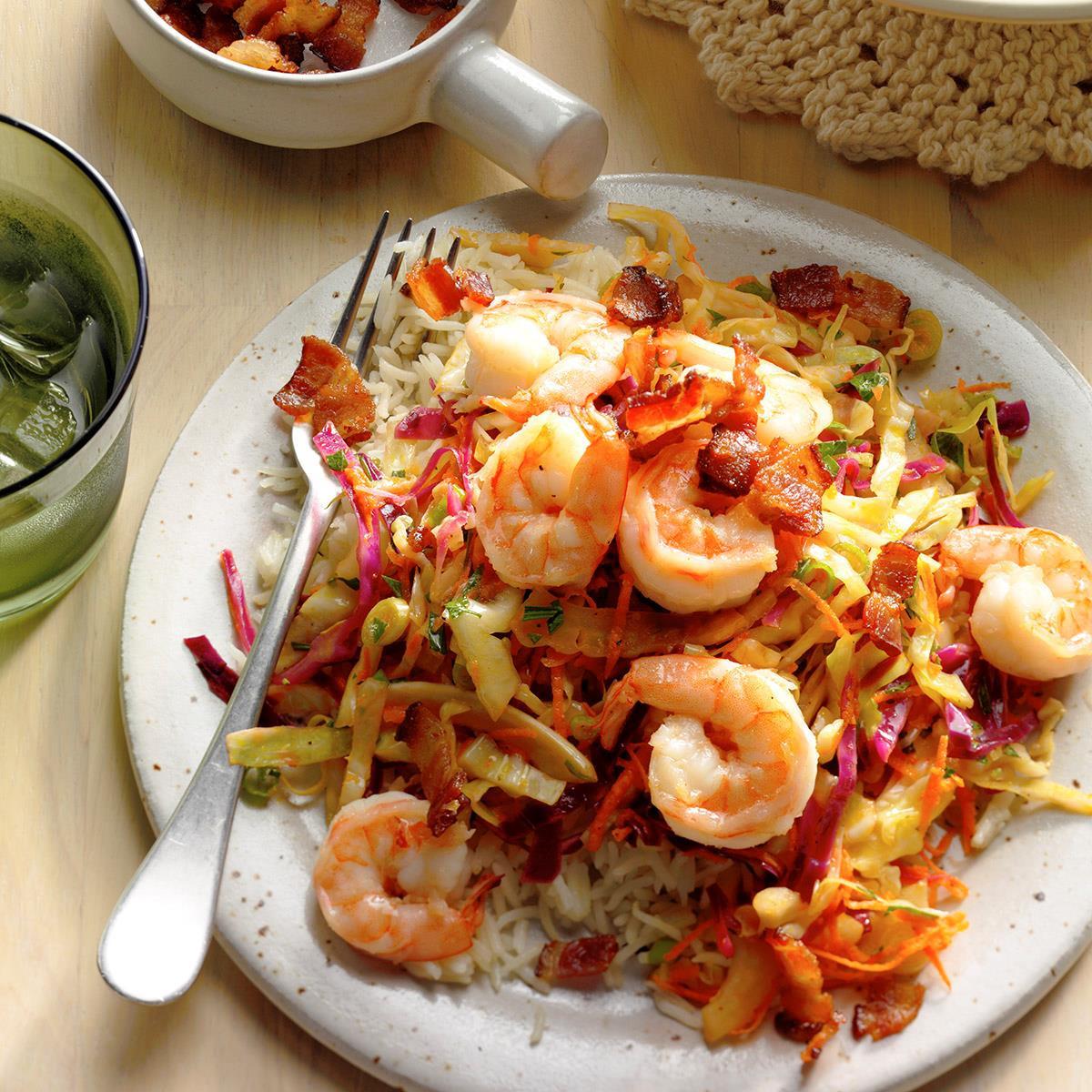 German Dinner Recipes  Shrimp with Warm German Style Coleslaw Recipe