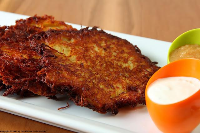 German Potato Pancakes  Grumbeerpannekuche German Potato Pancakes My Kitchen in