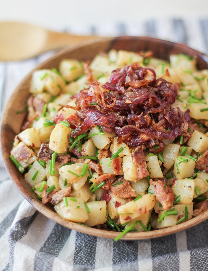 German Style Potato Salad  German Style Potato Salad with Caramelized ions The