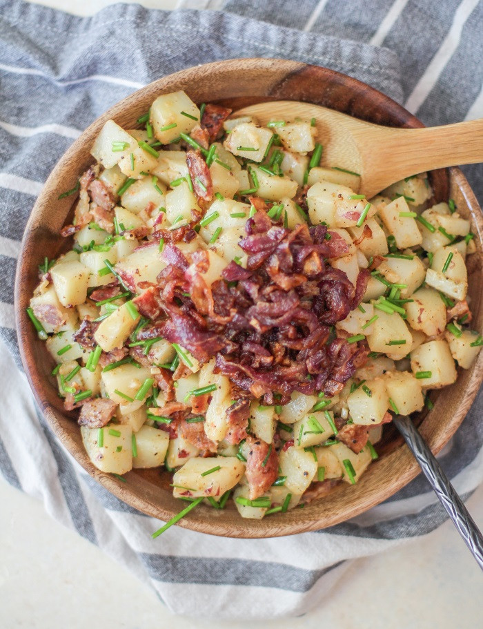 German Style Potato Salad  German Style Potato Salad with Caramelized ions and