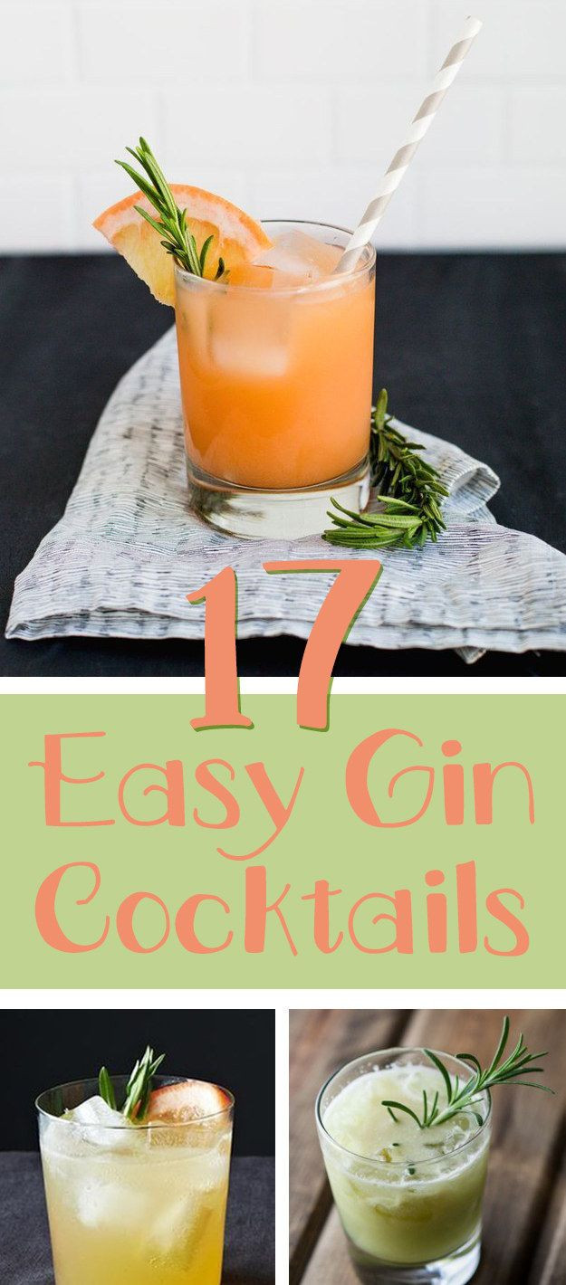 Gin Drinks Easy  Best 25 Gin cocktail recipes ideas on Pinterest