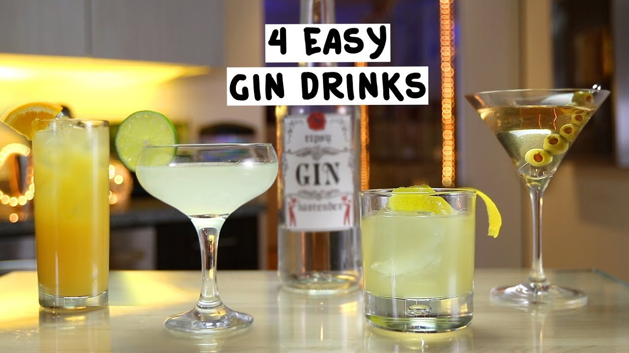 Gin Drinks Easy  Four Easy Gin Drinks