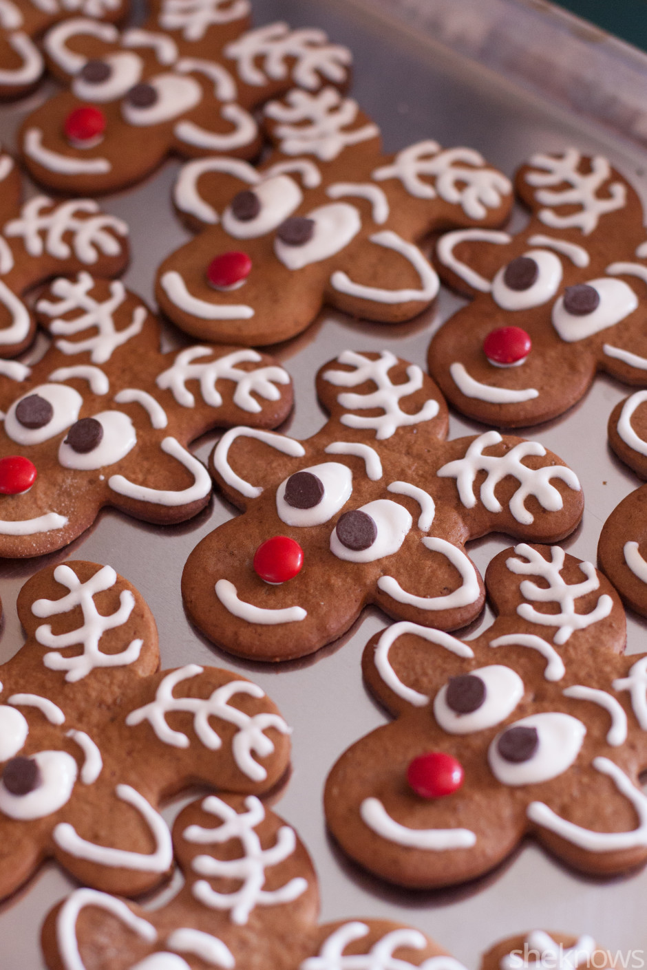 Gingerbread Cookies Recipe  Gingerbread reindeer cookies are a cute new take on a