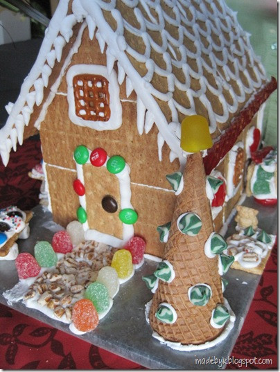 """Gingerbread House With Graham Crackers  Made By K Graham Cracker """"Gingerbread"""" House"""
