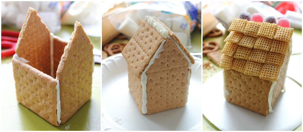 Gingerbread House With Graham Crackers  Make it Cozee Graham Cracker Gingerbread House