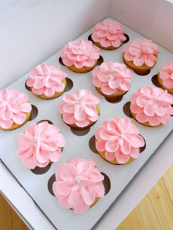 Girl Baby Shower Cupcakes  Baby Girl Cupcakes on Pinterest